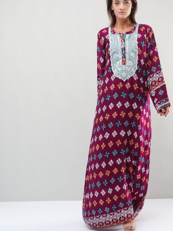 Argyle Printed Jalabiyas-Sara Arabia