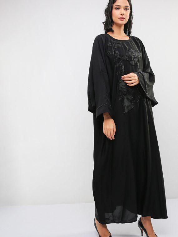 Embellished Farasha Abaya-MAHA ABAYAS