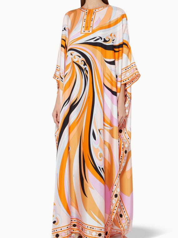 Multi-Coloured Printed Silk Kaftan-Emilio Pucci