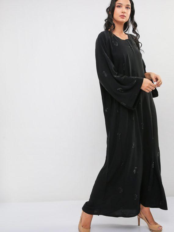 Paisley Diamante Abaya-MAHA ABAYAS