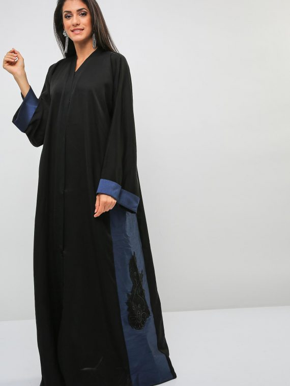 Pearls and Beads Embellished Abaya-Bousni