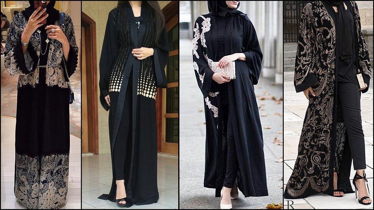 Dubai Open Abaya Stylish Trend Open Style Burqa Designs 2018